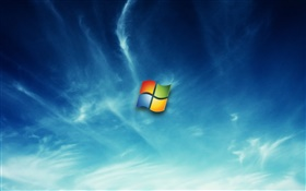 Logotipo do Windows 7 no céu HD Papéis de Parede