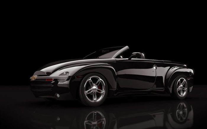 Mazda Furai Vehículos Supercars Hd Fondos De Pantalla: Carro Preto Chevrolet, Fundo Preto HD Papéis De Parede